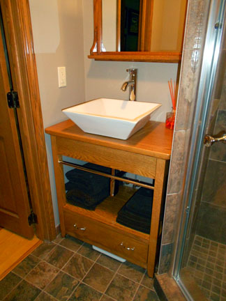 Red Oak Bathroom Vanity