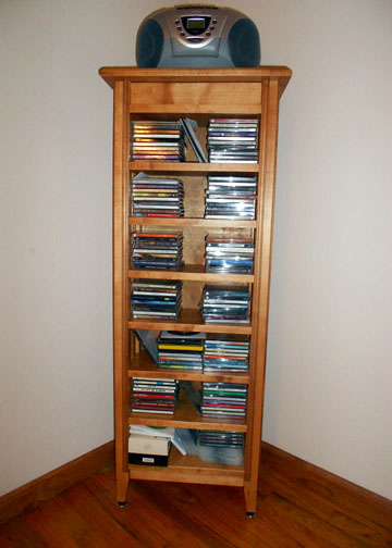 cd storage cabinet after completion and filled with cdu0027s
