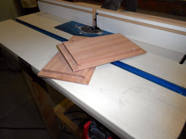 End boards showing finished rabbet cuts.