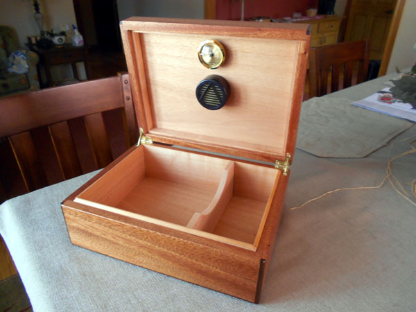 Chris' Finished African Mahogany Humidor