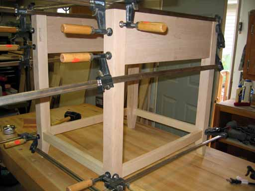 Clamped up sides and bottom rails.