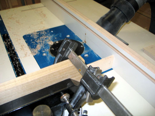 Table saw setup for cutting dados in vertical divider slats