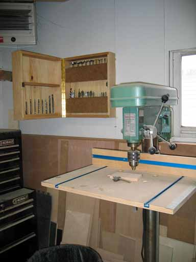 Finished Drill Cabinet View Of Press And Bit Storage