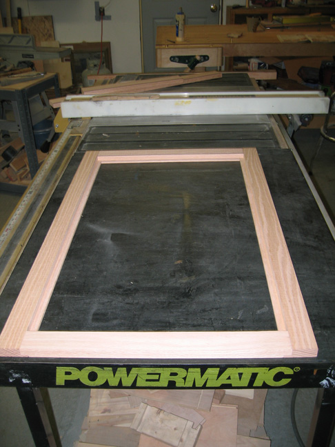 Mirror frame after removing from clamps.