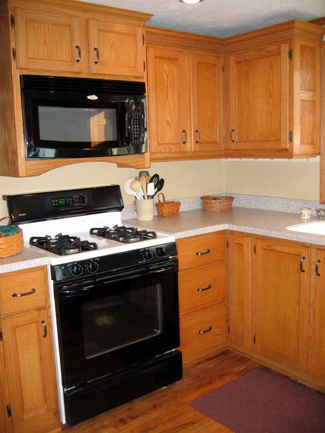 View Of NE Kitchen Corner And Microwave Cabinets.
