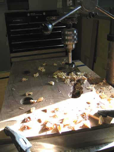 A drill press mess!